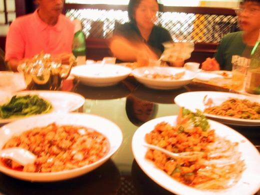 3日目 昼食 四川料理のフルコース