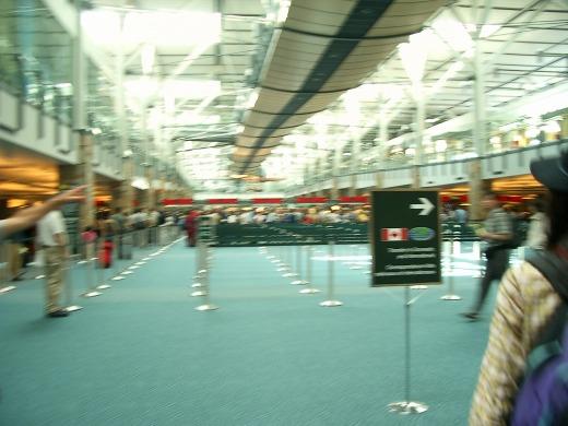 1日目 バンクーバー空港到着
