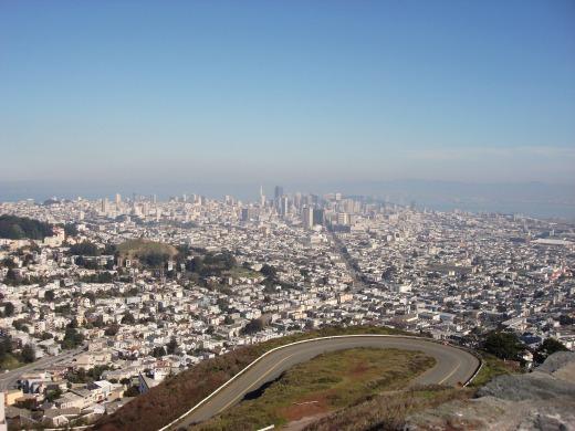 1日目 サンフランシスコ市内観光でツイン・ピークスへ