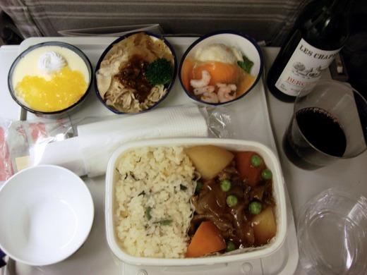 1日目 サンフランシスコ行き機内食や飛行機からの景色