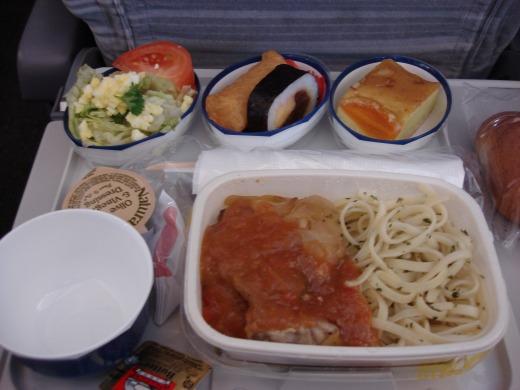 9日目 成田行き機内食2回 JAL061便
