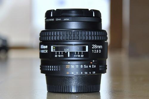 Ai AF Nikkor 28mm F2.8Dレンズ買いました。
