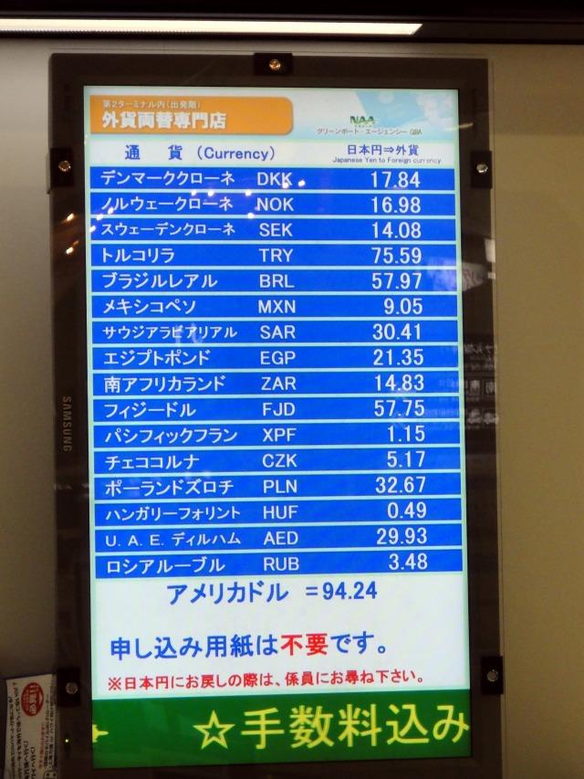1日目 空港で円からエジプトポンドに両替