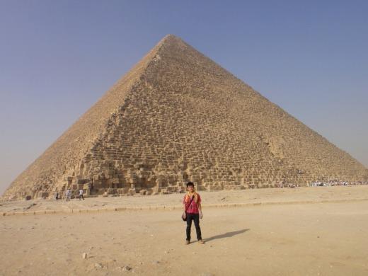 6日目 クフ王のピラミッドご対面