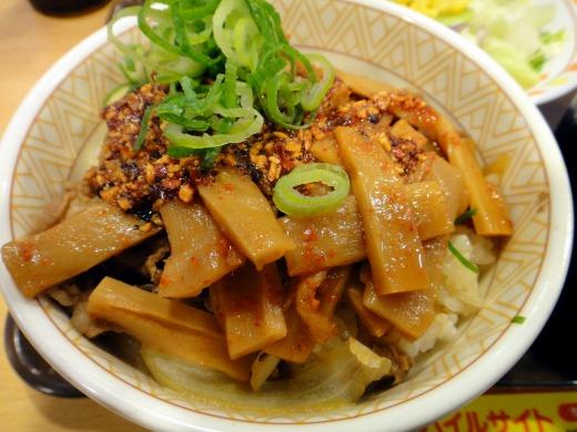 食べラーメンマ牛丼(並)とん汁サラダセットを食べました。