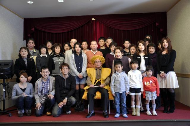 祖父の米寿の誕生日で一族が全国から結集してお祝い!