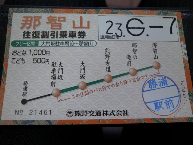 2日目 JR紀伊勝浦駅からバスで那智山へ