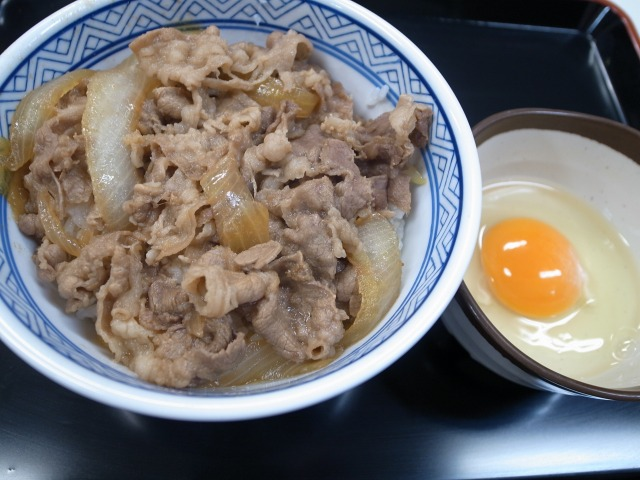 吉野家で「牛丼(並)と生卵」を食べました@渋谷