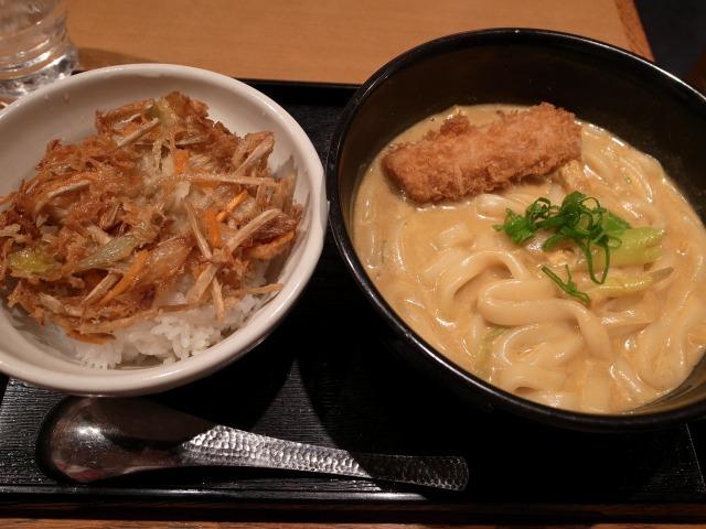 せんきちで「野菜かき揚げ丼セット+マヨ玉」を食べました@渋谷道玄坂