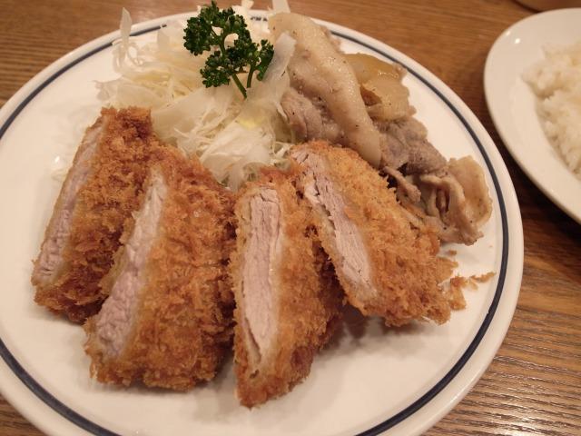 キッチンジローで「お好み盛り合わせ2品(ヒレかつとスタミナ焼)」を食べました@渋谷 宮益坂