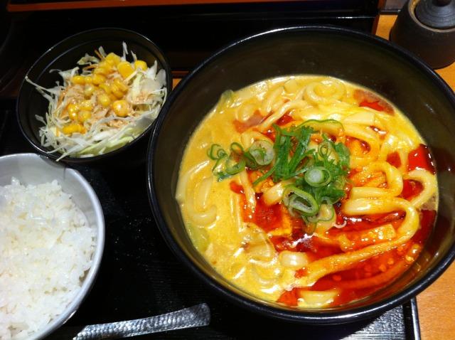 せんきちで「辛吉カレーうどんセット」を食べました@渋谷