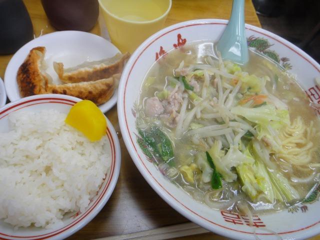 ラーメン王で「タンメン定食」を食べました@渋谷