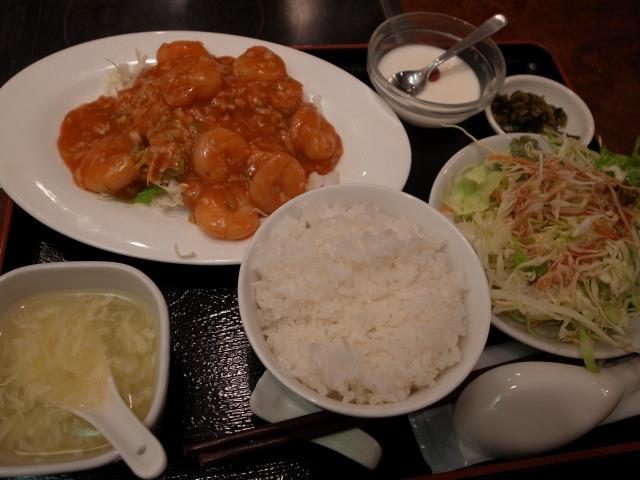 福縁酒家で「海老のチリソース炒め」を食べました@渋谷