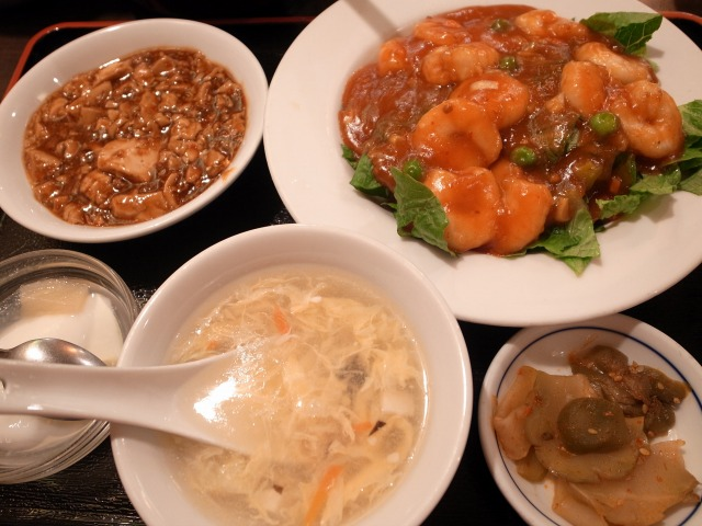 青山一品で「干焼 蝦仁(エビチリ)」を食べました@渋谷 宮益坂