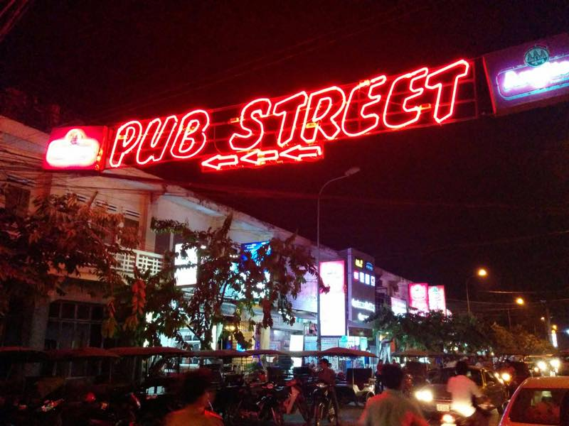 パブストリート・ナイトマーケットへ@カンボジア、シェムリアップ
