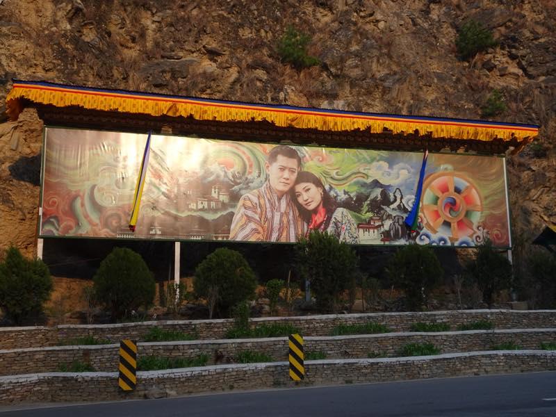パロから首都ティンプーへ移動@ブータン