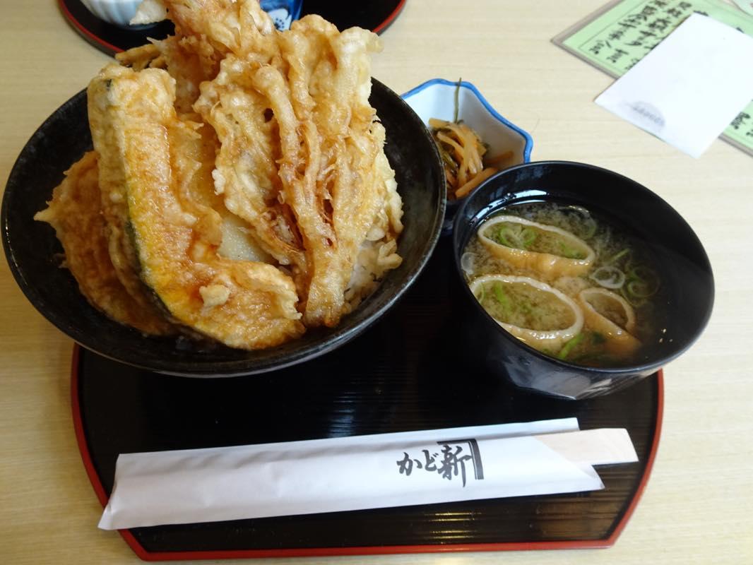 【週末ランチ】かど新で、天丼を食べる。