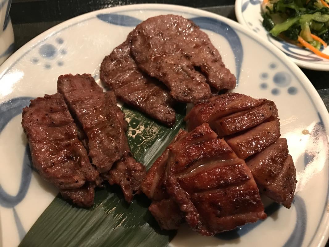 【週末ランチ】ねぎしで、牛たんミックスセットを食べる。