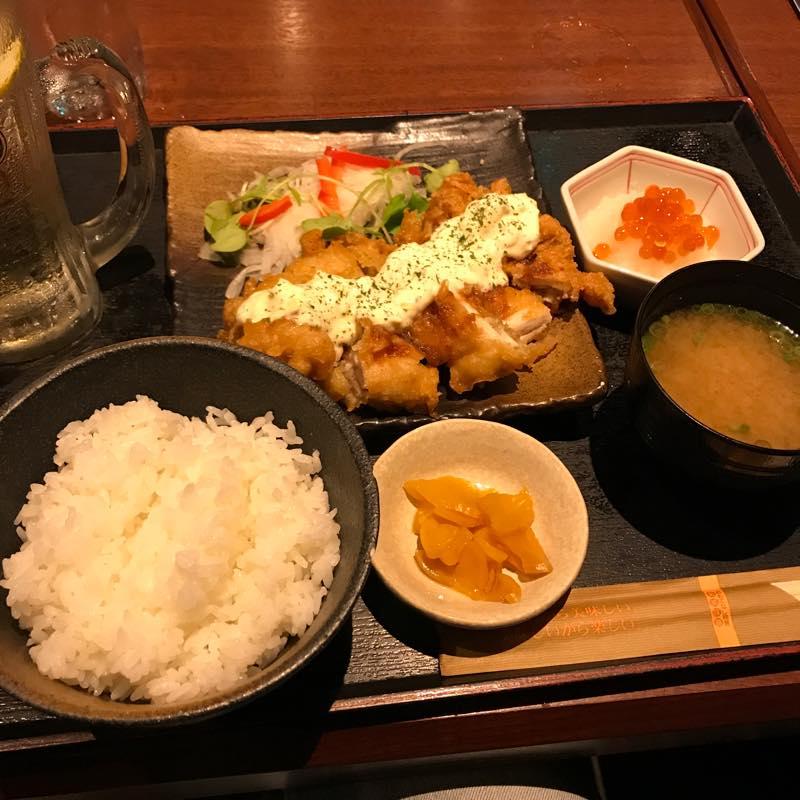 北海道 渋谷駅前店で夜定食<br>チキン南蛮定食を食べる!!