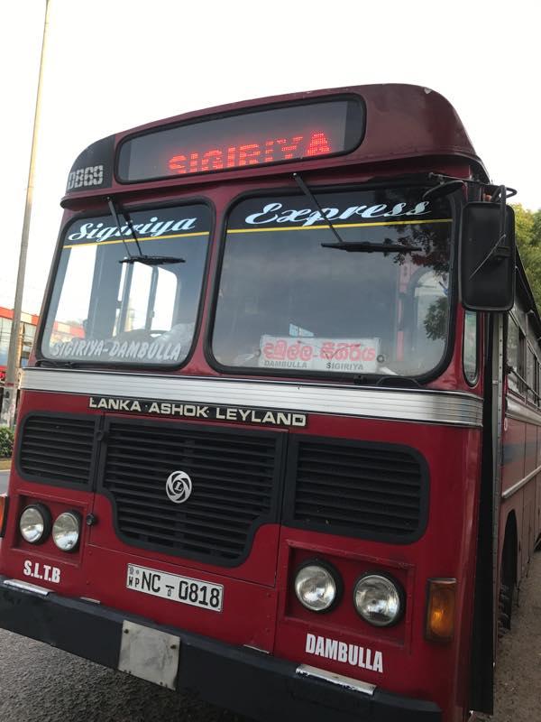 ローカルバスで移動!!<br>コロンボ・フォート〜ダンブッラ〜シーギリアへ