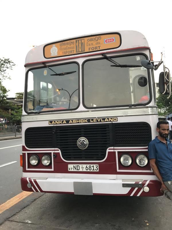 【ローカルバス】コロンボ・フォートからバンダラナイケ国際空港まで移動