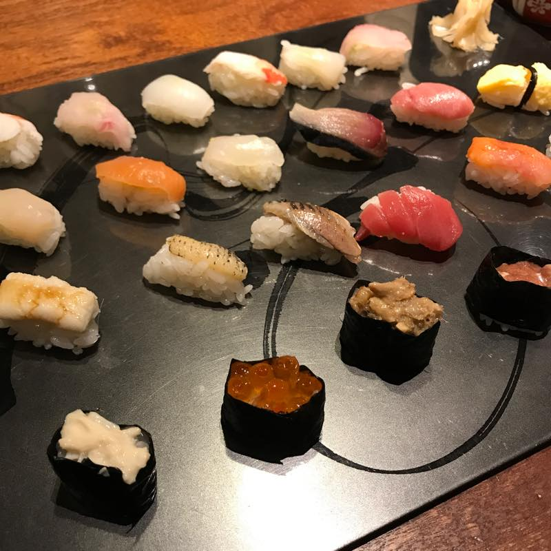ランチに姫寿司24貫とデザート3品を頂く!!@円山町わだつみ