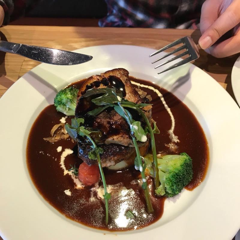 リベンジ成功!!<br>食べたかったフォアグラのポワレとハンバーグステーキ〜特製デミグラスソース〜が食べれました!!@一瑳 コロワイド