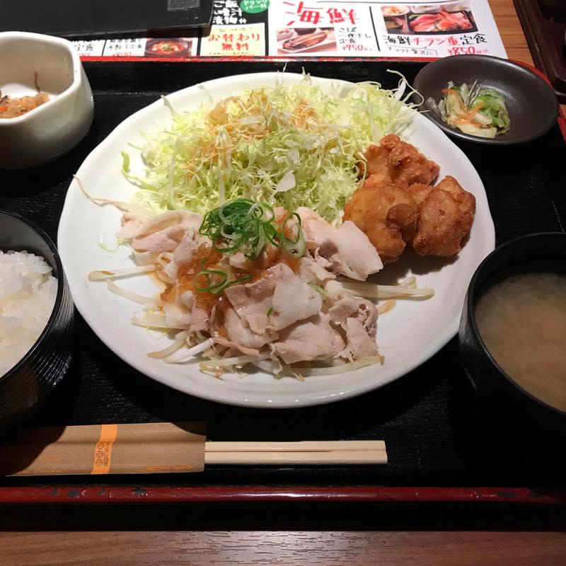 1ヶ月ぶりのNIJYUMARU!!<br>日替わりランチ豚の温しゃぶ&から揚げを頂く@コロワイド