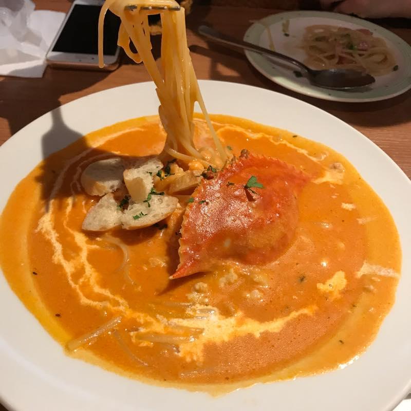 ビスクのトマトシチューと渡り蟹のスープパスタを頂く!!@ラ・パウザ 青山一丁目