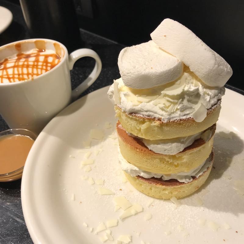 ホワイトラムレーズンパンケーキを食べる!!@J.S. PANCAKE CAFE 渋谷店