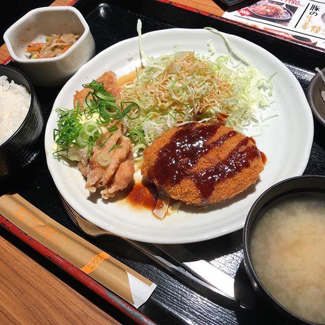 【優待ランチ】日替わり定食で鶏南蛮と牛肉コロッケを頂く!!@NIJYUMARU コロワイド