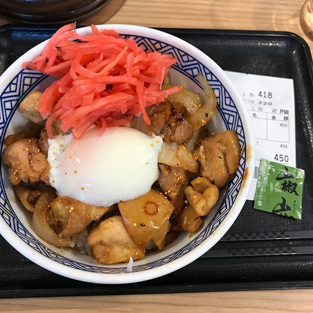 【優待ランチ】吉野家で「鶏すき丼」を頂く!!