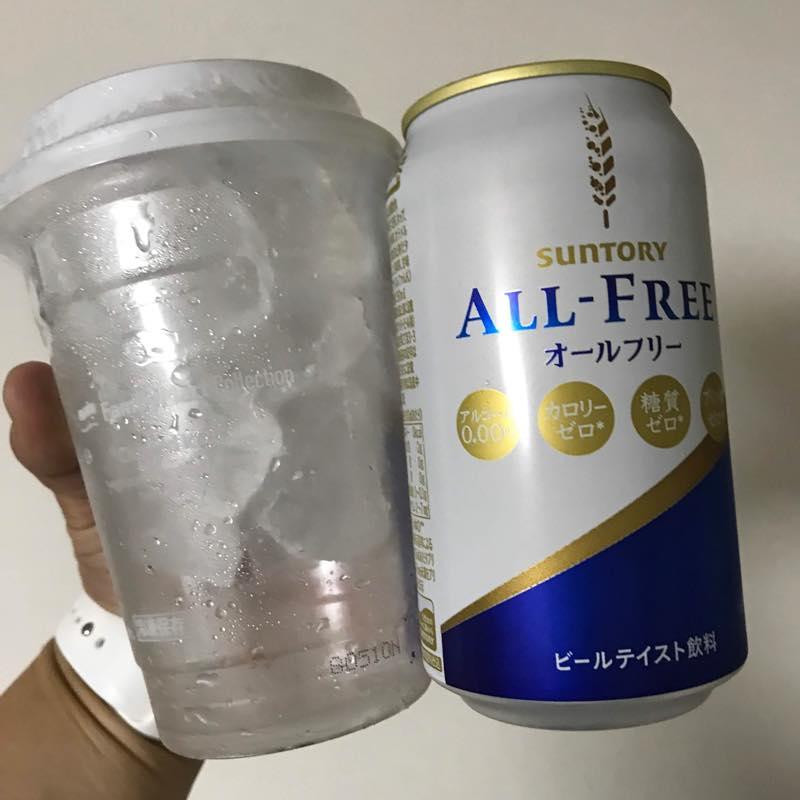 サントリーより「ノンアルコールビール オールフリーとカップ氷」当選!!