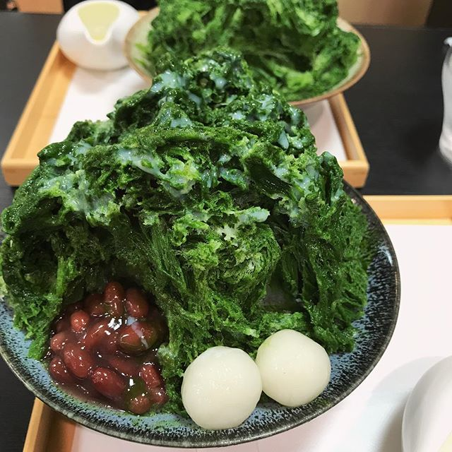 東急本店 茶寮 伊藤園にて氷抹茶金時 を頂く濃い抹茶を堪能!!