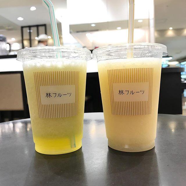 東急本店の林フルーツにて高級なジュースをいただく