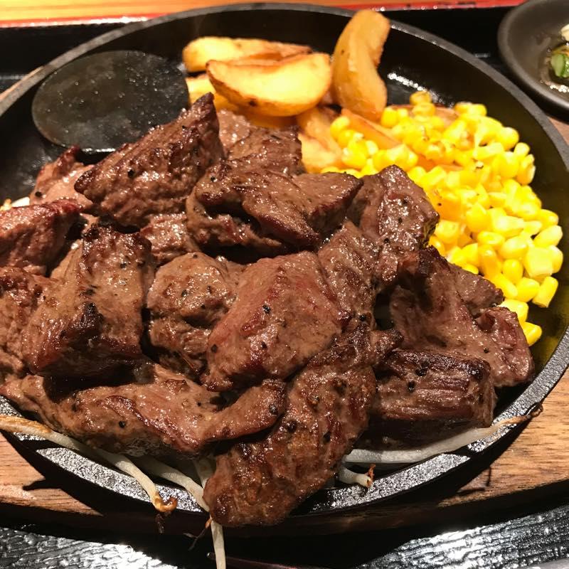 【優待ランチ】 夏バテ防止に「ワイルドカットステーキ L」@NIJYUMARU