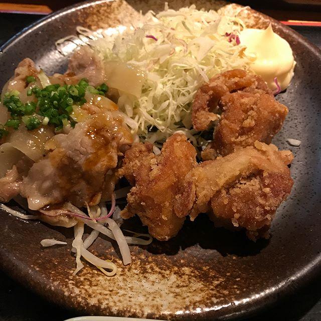 【優待ランチ】日替わりランチ「唐揚げ&豚肉と野菜のオイスター炒め」を頂く!!@テング酒場