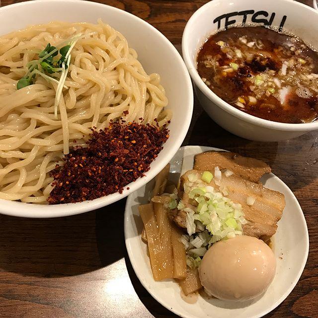 【優待ディナー】辛つけ麺 特盛 全部のせを頂く!!@つけ麺TETSU クリエイト・レストランツ