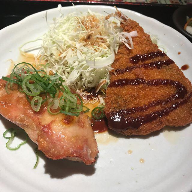 【優待ランチ】日替わりランチ「グリルチキンとアジフライ」を頂く!!@NIJYUMARU コロワイド