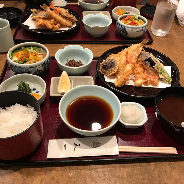 東急本店にある天一で「天ぷら膳松」で彼女の誕生日お祝いランチ