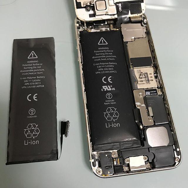 1年半ぶりのiPhone5のバッテリーを自分で交換。2回目だと簡単やね。