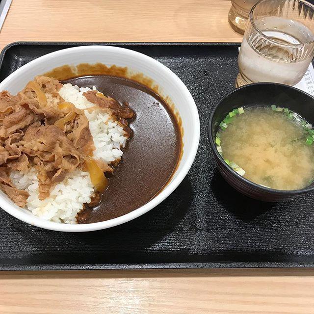 【優待ディナー】黒牛カレーを頂きました!!@吉野家