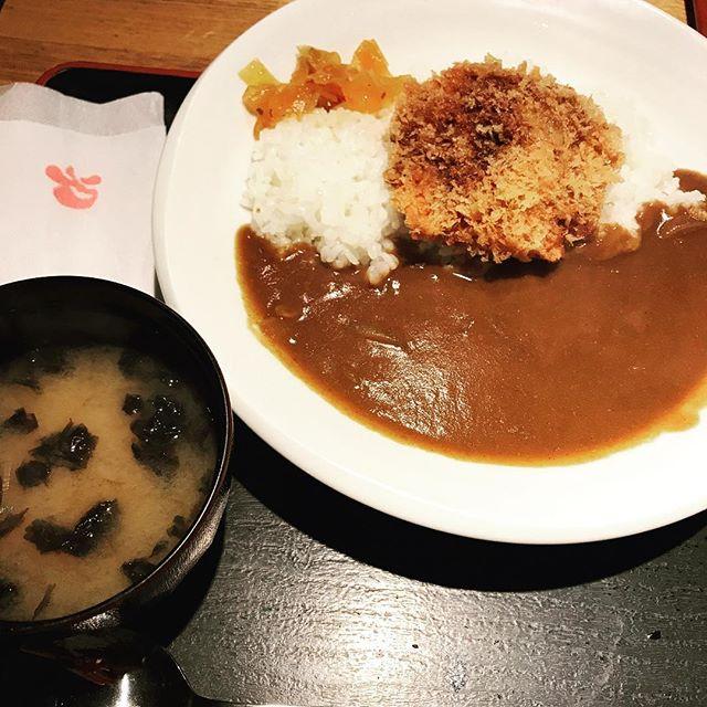 【優待ランチ】手作り牛たんメンチカツカレーライスを頂く!!@テング酒場