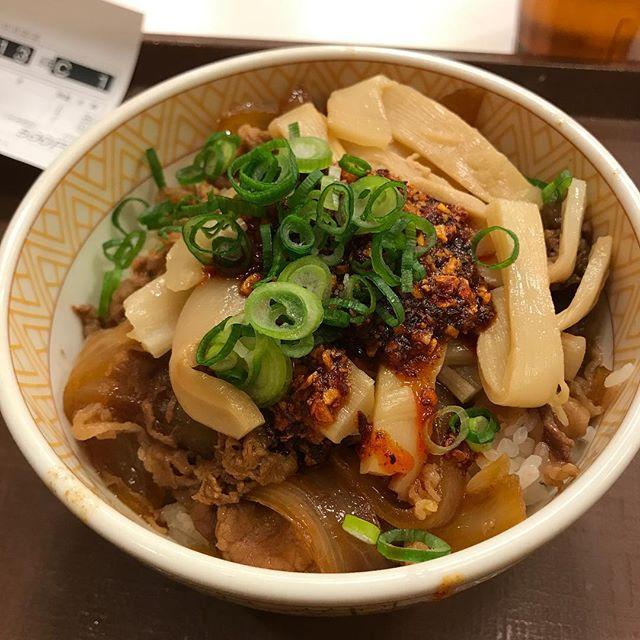 【優待ディナー】食べラーメンマ牛丼 並を頂く@すき家