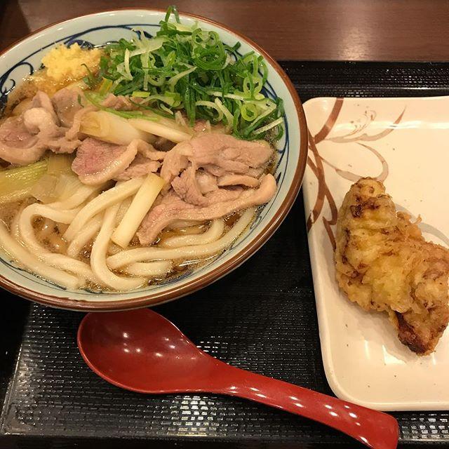 【優待ランチ】鴨ねぎうどん、かしわ天を頂く@丸亀製麺
