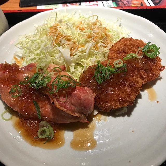 【優待ランチ】日替わり定食「メンチカツとグリルチキン」を頂く@NIJYUMARU