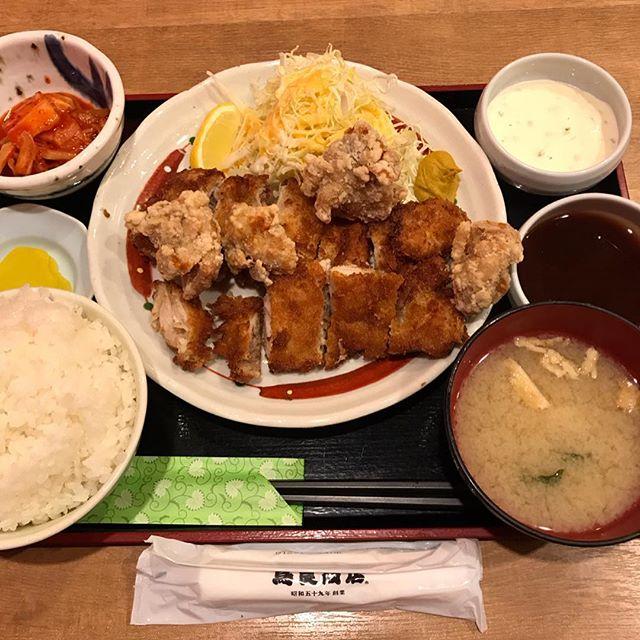 【優待ランチ】チキン・チキン定食とキムチを頂く!!@鳥良商店