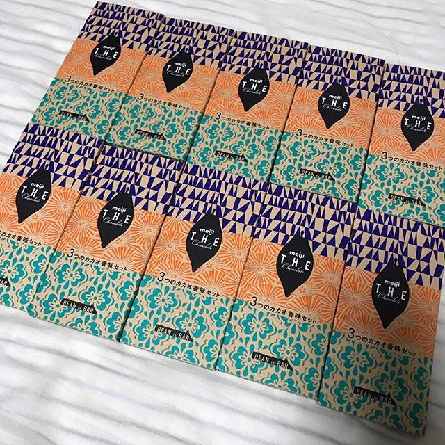 【モニター】Meiji THE Chocolate 3つのカカオ香味セット10箱を頂きました❣️