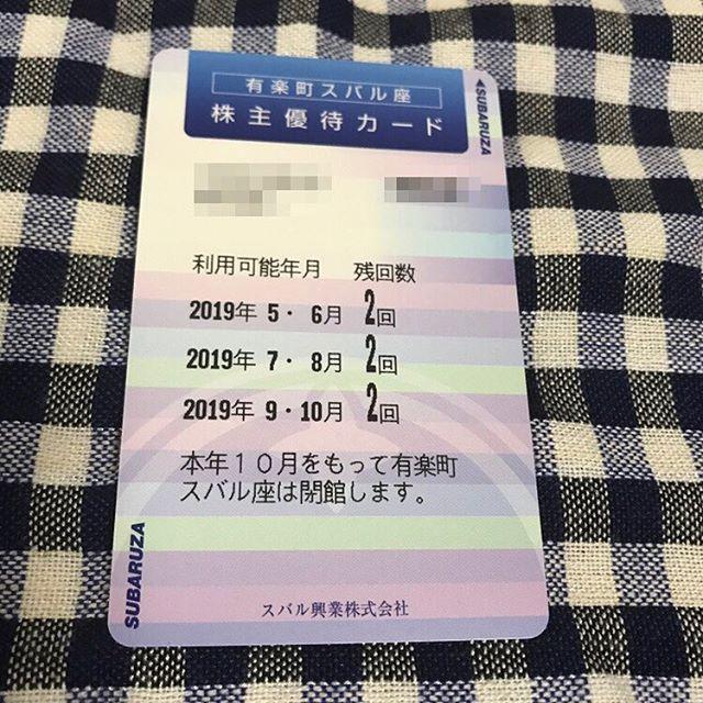 【1月優待】有楽町スバル座 映画鑑賞券6回分<br>スバル興業(株)より到着しました‼️