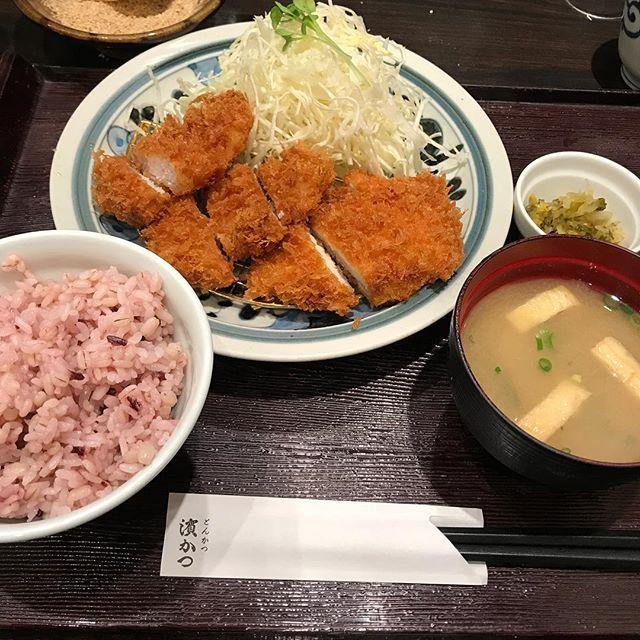 【優待ディナー】コンビかつ定食を頂く@とんかつ濱かつ